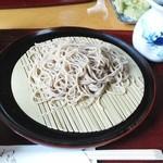 41573641 - 「道楽そばコース」のもりそば。蕎麦はチョッと色黒で田舎蕎麦を品好くした感じ。