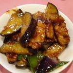ヤムチャ - 豚肉と茄子の味噌炒めを取り分けて