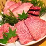 焼肉とワイン 李苑 - 選りすぐりの和牛を取り揃えています。