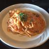 弁天カフェ - 料理写真:キノコとパンチェッタのトマトクリームパスタ