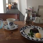 Cafe Celeste - ガトーショコラとオレンジシャーベットと絶妙の組み合わせでした♡