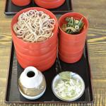 柏屋 - 割子蕎麦(1段目)