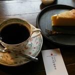 元町珈琲店 - マイルド120ccとチーズケーキ♡  とても雰囲気がよく長居してしまいました…