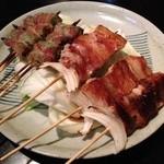 焼鳥赤ひげ - 料理写真:豚バラ、オクラ巻