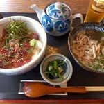 びびんや - かつお飯(¥972)+魚うどん(¥594)。文句無し、日南のご馳走です!