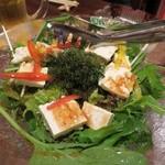 かりゆしナイト - 海ぶどうと島豆腐のサラダ