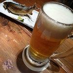 魚馳走亭 ちゃぽん - 「ヱビス生ビール 中」 594円