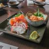 天文館 - 料理写真:刺身三種盛り(サーモン、タコ、赤貝)☆