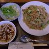 角屋食堂 - 料理写真:中国野菜とオイスター風味チャーハン