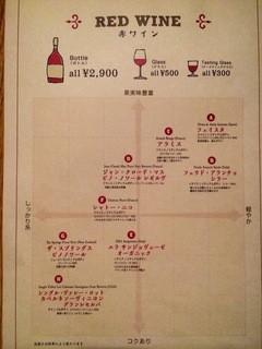 焼肉とワイン 李苑 - 赤ワインメニューです!