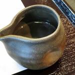 小倉山荘カフェ - 夏果の色(別添えの追加みぞれシロップ、2015年7月)