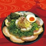 ラーメンKAZU - お腹いっぱい食べてみたかった山盛りのチャーシュー!!【一日限定20杯】夢が叶うかもです(//∇//)キャ 旅の記念にどうぞ・・・