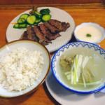 味の牛たん 喜助 - 特切り厚焼定食 しお味