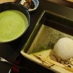 紫野和久傳 茶寮 - 季節限定:わたぼうし:栗餡
