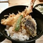 浅野屋 - 天丼セットー大きな海老ー