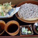 陶里庵 - 天ざるそば 1150円(税込)