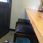 徳川膳武 - 椅子は四角のシンプルなもの、下にプラ籠あり
