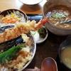 ハナマル霞庵 - 料理写真:カレーうどんと天丼のセット