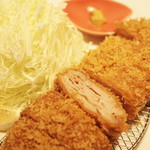 炭豚亭 - 炭豚かつ定食 2015.09.05撮影