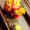 炉端ふってん - 料理写真:雲丹の牛肉巻き680円