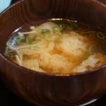 かふぇど結 - えのきと揚げの味噌汁