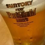 蘭苑菜館 - プレミアムモルツの生ビール
