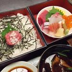 源氏香 - ご飯とお刺身
