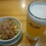 なにわや - 【料理】ゴーヤ炒めとビール!