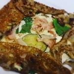 ルマロン - 料理写真:青紫蘇と焼きナス、jambon、フロマージュのコラボ~♪(о´∀`о)ウマー!