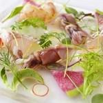 ヴィノテカサクラ - 料理写真:魚介のサラダ仕立て (コース料理より)