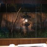 赤坂菊乃井 - カウンターから見せる庭