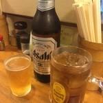 多聞 - ☆瓶ビールアサヒとウーロン茶で乾杯☆