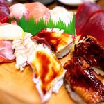 谷町 一味禅 - お寿司盛り合わせ