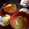 とん吉 - 料理写真:H27.9.12 ジャンボハンバーグ定食セット