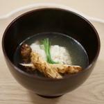 八雲茶寮 - 鱧と松茸のお椀