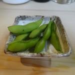 つく志 - お通しの枝豆