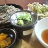 あずまや心菜 - 料理写真:芽室産野菜の天ぷらそば 900円 2015.9
