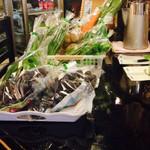 カプチーノ詩季 - 店内ではこだわり?野菜も販売