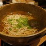 旬彩和遊 楠 - そばは、せいろと温の汁そばが選べます、今日は、ひんやりしていたので、温かい汁そばにしました