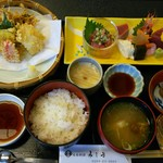 割烹 みしま - 料理写真:刺身天ぷら膳 1620円
