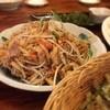 海鮮酒家 中山 - 料理写真:手前からゴーヤチップス、フーチャンプルー、海ぶどう