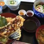 レストラン美浜 - ハモ天丼御膳