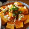 桃猫食堂 - 料理写真:豆腐と海老のチリソース
