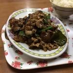 中華 富士 - なんと肉ナスは冷凍物
