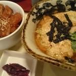 42055771 - ミニソースカツ丼+ミニ玉子とじそば