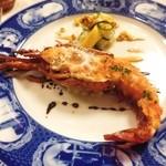 42059058 - 和歌山県産・イセエビのヴァプール 数種夏野菜のラタトゥイユ風ソースとその冷製マリネ バージン油とバルサミコソース