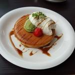代官山パンケーキカフェClover's - 抹茶パンケーキ