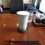 遊菜 - ドリンク写真:焼きもののタンブラーは細かい泡になるんですよね