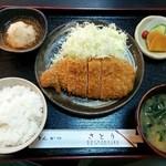 とんかつ さとう - おろしかつセット(ランチ950円)