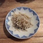 椿 - 料理写真:山形芋煮定食のジャコ